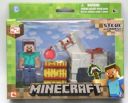 Minecraft Steve z belim konjem