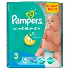 Pampers Active Baby 3 Midi (4-9kg) Giant Pack - 90 ks