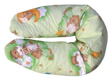 COSING Kojící polštář, Medvídek v oblacích zelená
