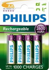 Philips punjive baterije Blister AA, 4 komada