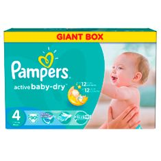 Pampers Active Baby 4 Maxi (7-14kg) Giant Box - 90ks