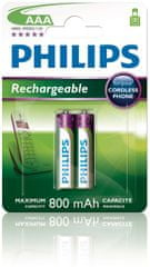 Philips AAA 2ks 800mAh Rechargeables (R03B2A80/10)