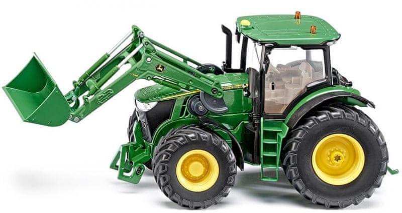 SIKU Control - Traktor John Deere s předním nakladačem 1:32