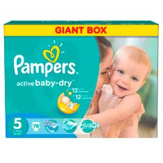 Pampers Active Baby 5 Junior (11-18kg) Giant Box - 78ks