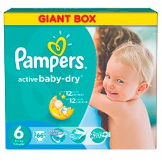 Pampers Active Baby 6 Extra Large (15+kg) Giant Box - 66 ks