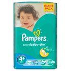 Pampers Active Baby 4+Maxi (9-16kg), 70 sztuk