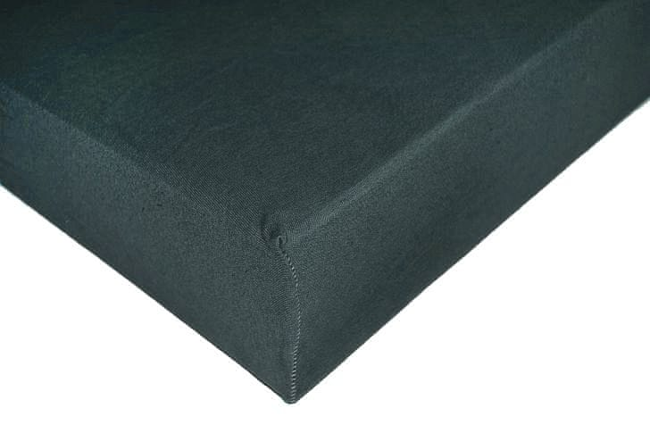 Greno Jersey prostěradlo 180 x 200 cm tmavě šedá