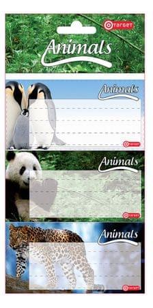 Target nalepke šolske Animal 6/1 (01616)