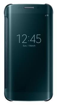 Samsung flipové pouzdro Clear View, Galaxy S6 EDGE, zelená