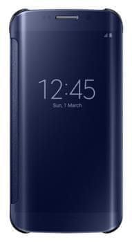 Samsung flipové pouzdro Clear View, Galaxy S6 EDGE, modré