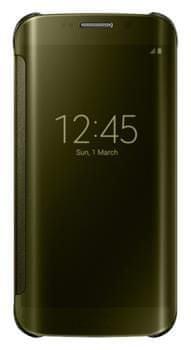 Samsung flipové pouzdro Clear View, Galaxy S6 EDGE, zlatá
