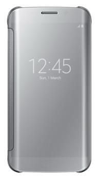 SAMSUNG Clear View Galaxy S6 Edge Telefontok, Ezüstszín