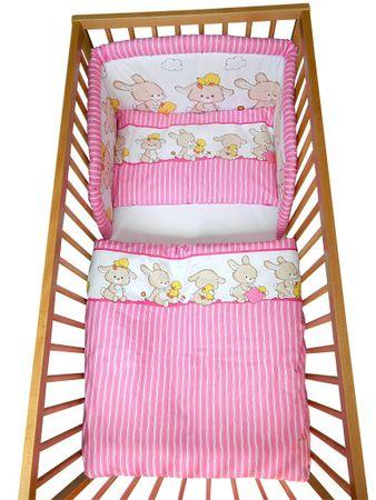 COSING 3-delni set Comfort posteljnina Zajčki, roza