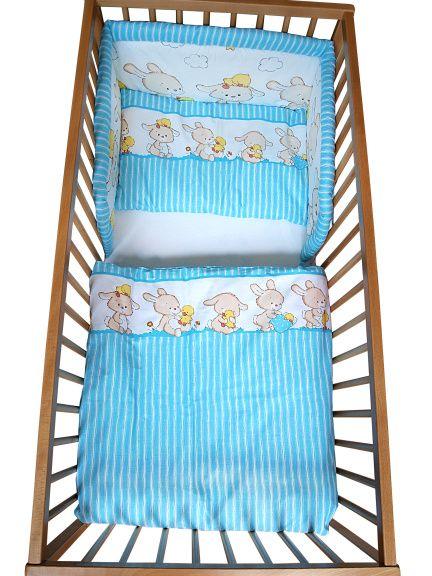 COSING 3-dílná sada povlečení Comfort, Zajíčci modrá