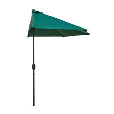 Happy Green Půlkruhový slunečník 270x135cm tmavě zelený