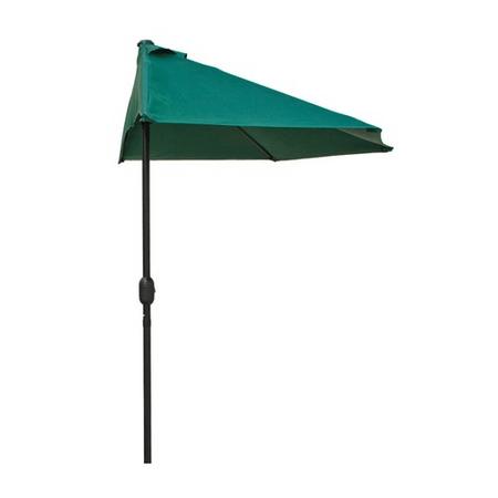 Happy Green Polkruhový slnečník 270 x 135 cm zelený