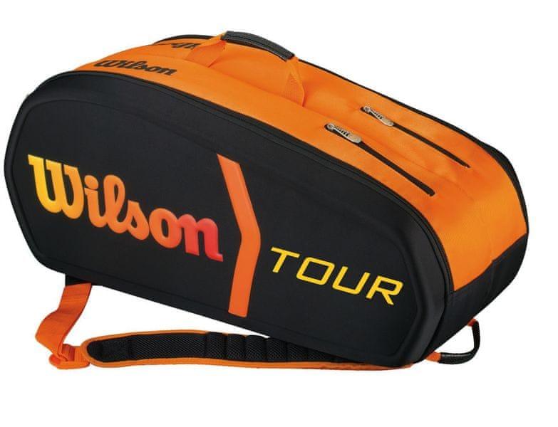 Wilson Burn Molded 9 Pack Bag Black / Orange
