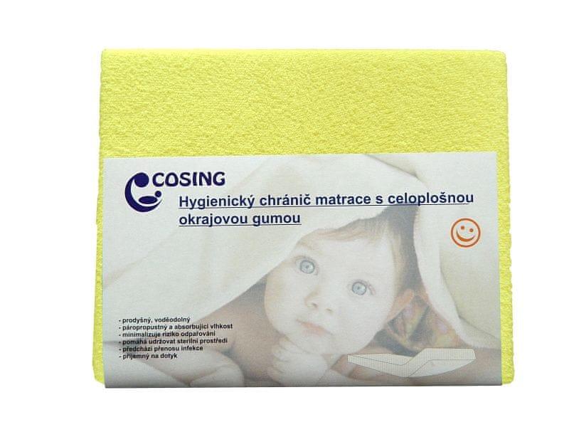 COSING Hygienický chránič matrace 60x120cm, žlutá