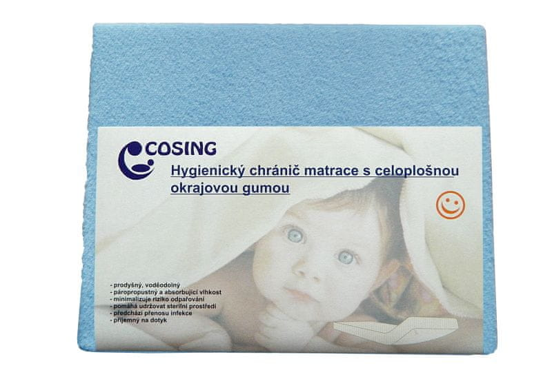 COSING Hygienický chránič matrace 60x120cm, modrá