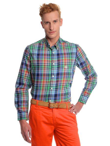 Chaps pánská kostičkovaná košile na knoflíčky XXL zelená