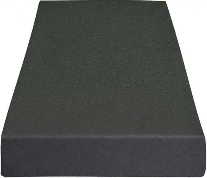 Greno Jersey prostěradlo 220 x 200 cm tmavě šedá