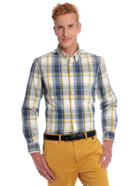 Chaps pánská košile klasického střihu M modrá