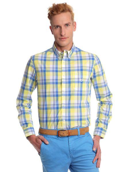 Chaps pánská košile s náprsní kapsičkou XXL žlutá