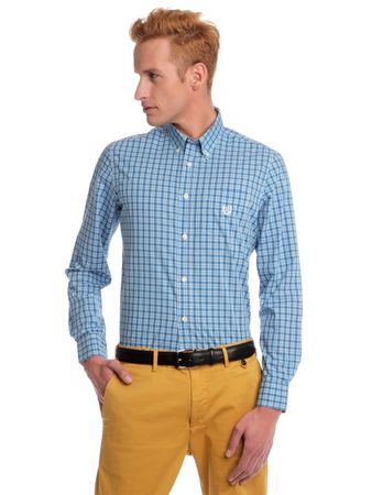 Chaps kostičkovaná pánská košile L modrá
