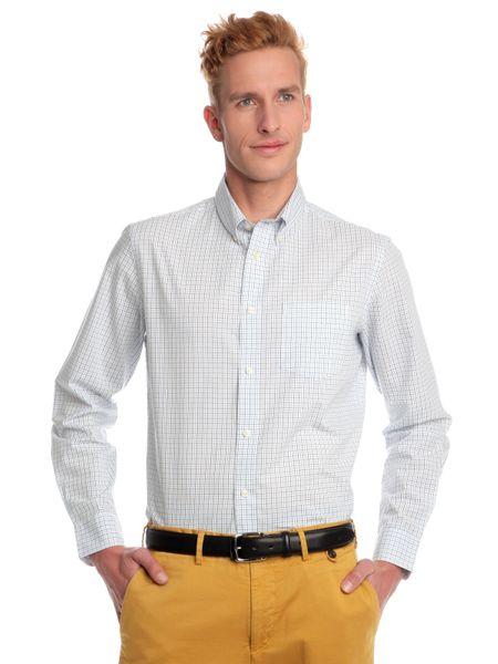 Chaps pánská kostičkovaná košile XL bílá