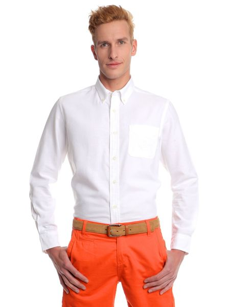 Chaps pánská košile s logem značky M bílá