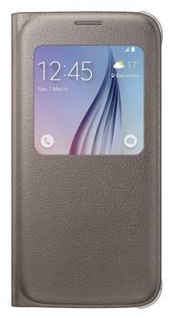 Samsung flipové pouzdro S-view, Galaxy S6, zlaté - II. jakost