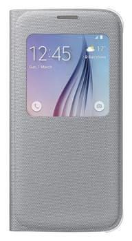 Samsung flipové pouzdro S-view, Galaxy S6, stříbrná