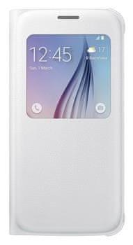 Samsung flipové pouzdro S-view, Galaxy S6, bílá