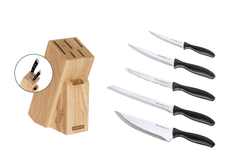 Tescoma Blok WOODY a nože Sonic