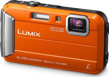 Panasonic digitalni fotoaparat Lumix DMC-FT30, podvodni, oranžen