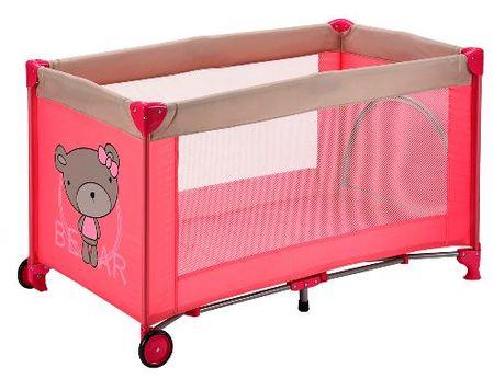 BC Home prenosna postelja Ca-Py, medo, pink