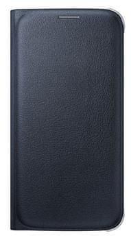 Samsung flipové pouzdro s kapsou, Galaxy S6, černá
