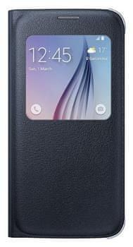 Samsung flipové pouzdro S-view, Galaxy S6, černá