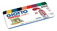 Giotto tempera barvice, 12/1, 7,5 ml