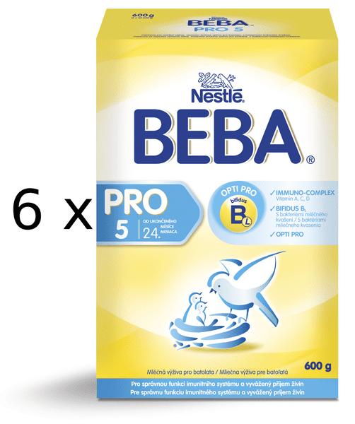 Nestlé BEBA Pro 5 Kojenecké mléko - 6x600g
