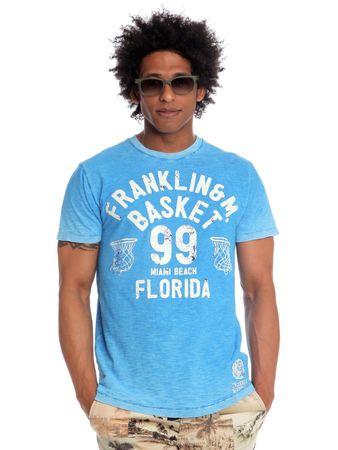 Franklin&Marshall TSMVA236 L niebieski