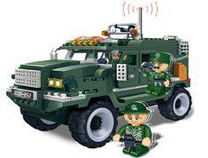 BanBao Stavebnice Defence Force vozidlo Humvee zpětný chod