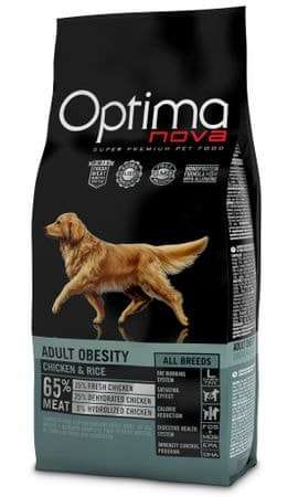 Optima NOVA Dog Obesity Kutyatáp, 12 kg