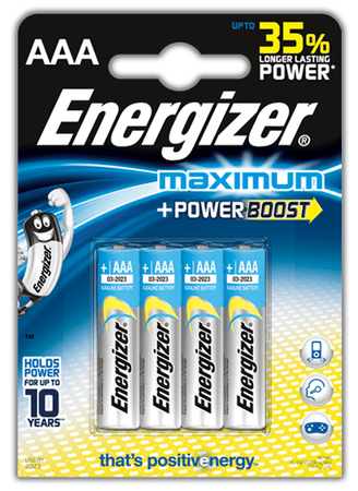 Energizer AAA 4ks Maximum