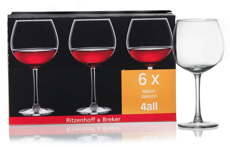 Ritzenhoff&Breker Sklenice na červené víno, 6 ks