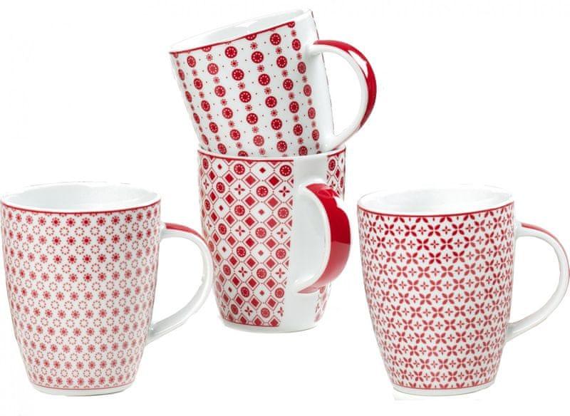 Ritzenhoff&Breker Hrnky na kávu Paco červená, 4 ks