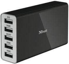 Trust uniwersalny zasilacz sieciowy 25W Wall Charger with 5 USB ports 20014