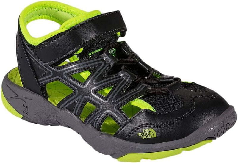 The North Face B Hedgehog Sandal TNF Black/Dayglo Yellow 35