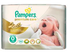 Pampers Premium Care 0 Newborn (do 2,5kg) - 30ks