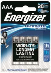 Energizer baterie AAA 4 szt Ultimate Lithium